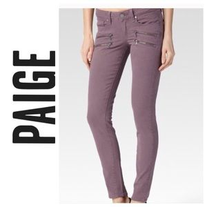 Paige Edgemont Jeans in Plum Smoke